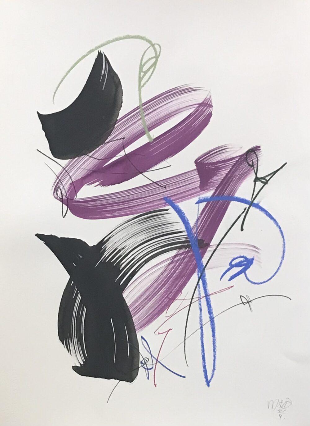 Mette Rix - arbejder på papir